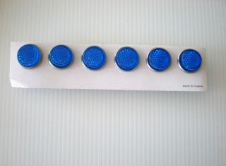 Pack Blue Mini Reflectors For Bike Motorcycle License Plate