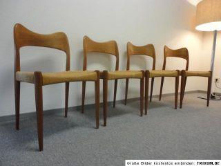 50s Mogens Kold Arne Hovmand Olsen Teak Dining Chairs Danish Modern