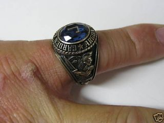 vintage garden grove high school class ring 1992 time left