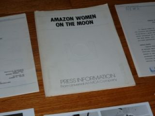 Women on The Moon 1987 Movie Press Kit John Landis Joe Dante