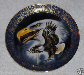Vtg Royal Doulton Profile of Freedom Eagle Plate Franklin Mint Valley