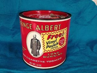 PRINCE ALBERT 14 OZ TIN CAN CIGARETTE PIPE TOBACCO CRIMP CUT FULL