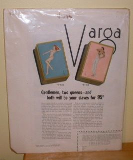 Esquire Varga Girl Advertisement for Playing Cards 1930s Vargas