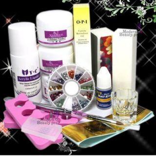 Nail Art Tips Kit DIY Acrylic Nail Liquid Powder 1224