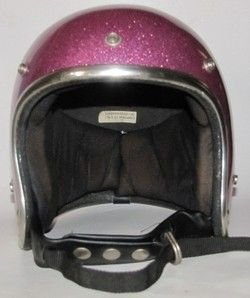 Pink Metal Flake Sparkle Motorcycle Helmet Medium Arthur Fulmer