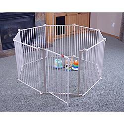 Metal Play Yard Pen Gate Fence Kids Pet Dog Child Ships Free
