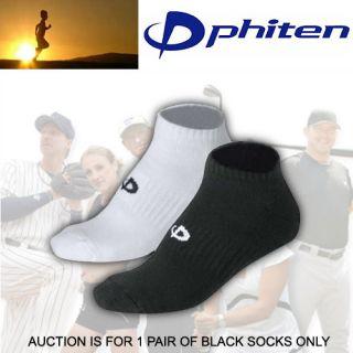 New Mens Phiten Titanium Ankle High Sports Socks Black