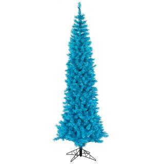 ft Sky Blue Ashley Slim Pencil Blue Lights Pre Lit Christmas Tree