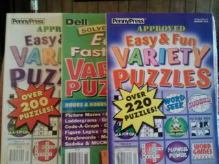 PP Dell Easy Fun Solvers Choice Easy FastnFun Variety Puzzle Books