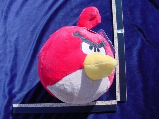 Red Angry Birds 8 Plush Rovio Pillow Action Figure Commonwealth Toy