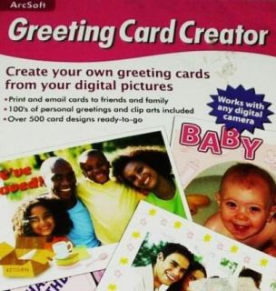 Arcsoft Greeting Card Creator PC CD Create Personalized Customized w