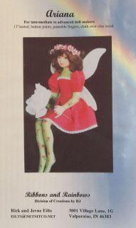 Ariana Fairie Fairy Faery Soft Sculpture Art Doll Sewing Making