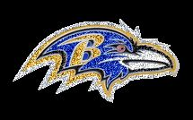 Baltimore Ravens NFL Football 9x4 25 Gold Leather Sew on Embroidered