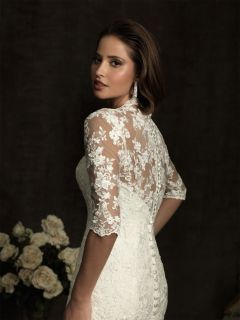 New Sexy Lace Half Sleeves Bridal Wedding Dresss Bride Gown Custom