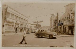 RPPC Astoria Oregon Street Scene Postcard