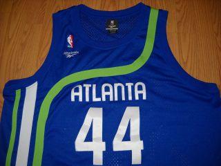 VINTAGE NBA ATLANTA HAWKS PISTOL #44 Basketball Jersey HARDWOOD