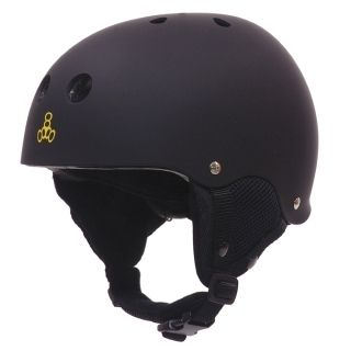 Eight Black Snow Helmet with Audio System Snowboarding Ski