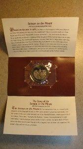 1997 $5 MARSHALL ISLANDS SERMON ON THE MOUNT COMMEMORATIVE COIN