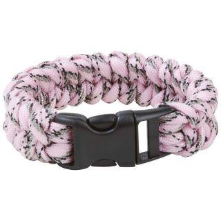 pink breast cancer awareness paracord bracelet