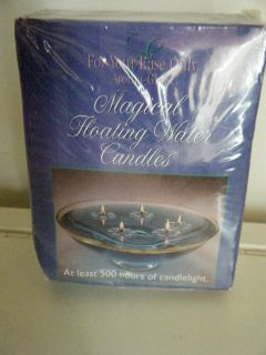Magical Floating water Candles 2 sets of 5 500 hours of candle light