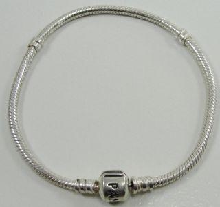 Authentic Pandora Stlering 925 Bead Charm Bracelet Snake Style Chain 7