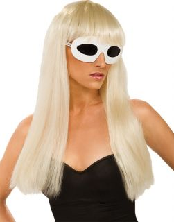 NEW Lady Gaga Licensed Long Blonde Straight Costume Wig w/Bangs