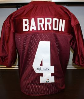 Mark Barron Autographed Alabama Crimson Tid Maroon Jersey