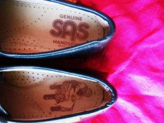 SAS SHOES SIESTA BLACK LEATHER LACE UP OXFORDS  SIZE11 /44,5 N MADE