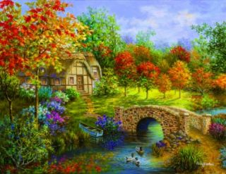 Sunsout Jigsaw Puzzle Autumn Beauty Nicky Boehme 3000 Pcs