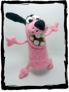 Sneffcas World Needle Felted OOAK 4 COURAGE the Cowardly Dog