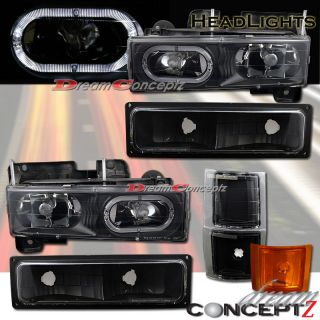 Chevy Full Size Suburban Halo Rim Headlights Signal Black Style