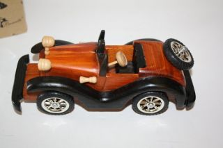Wooden Model Antique Car Roadster Décor Wood Art Deco