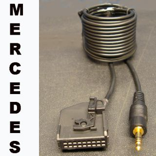 MERCEDES BENZ 3 5MM AUX INPUT ADAPTER CABLE LEAD FOR iPOD  18 PIN