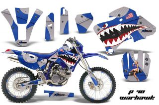 AMR RACING MX NUMBER PLATE DECAL STICKER KIT YAMAHA WR 250F 426F 400F