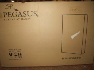 Pegasus SP4597 Deco Framed Medicine Bahroom Cabine Mirror Whie 26