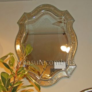 Felicie VENETIAN Gold Beveled WALL Mirror HORCHOW