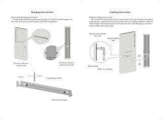 Bathroom Shower Massage Panel Multi Functions 8 Jets Tub Faucet Hand