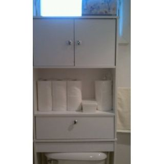 White Bathroom Space Saver Cabinet