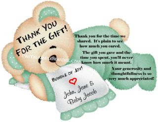 Personalized Baby Shower Invitation Thank You Cards WOW