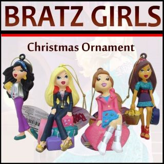 bratz girls christmas ornament set of 4 assorted pasion for