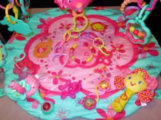 15 pc baby girl bright starts activity gym w extra toys pink lot play