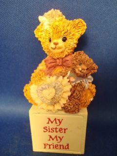 Bainbridge Bears My Sister My Friend Teddy Bear Figurine Beatrice Ben