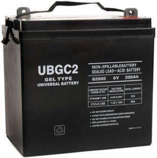 UPG UB GC2 6Volt 200AH Golf Cart SLA Battery