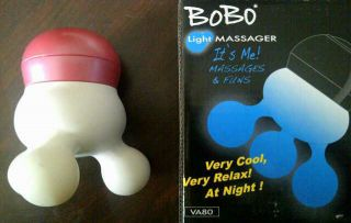 LED Light up Hand Held Vibrating Massager Red/ Pink Battery Operated