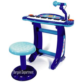 Kids Piano Toy Guitar Boy Microphone Battery Operated