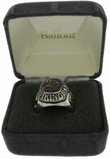 Balfour Ring Football NFL Minnesota Vikings Sz 8 5