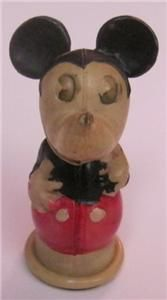Disney Celluloid Mickey Mouse Pencil Sharpener Pre War Disneyana