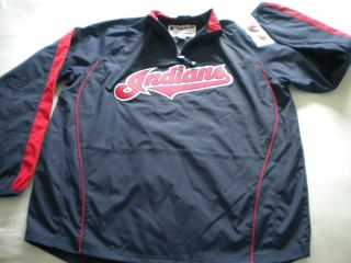 MLB Cleveland Indians 1 4 Zip Windbreaker Jacket XL 18 20 $50