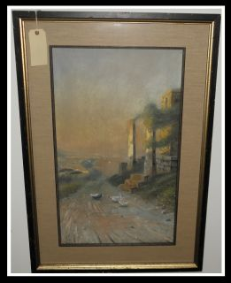 Large Antique Giovanni Battista Landscape Painting Sale