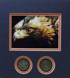 Auburn University Tigers Football Photo Print w Coins